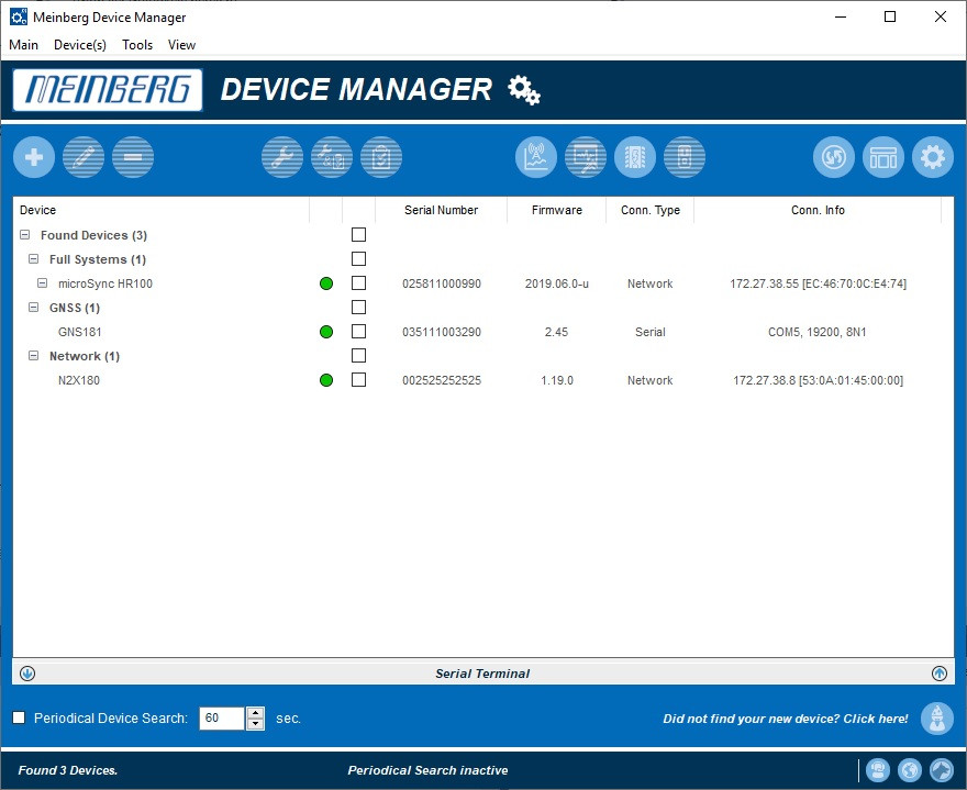 Meinberg Device Manager